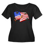 American Flag Butterflies Women's Plus Size Scoop