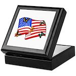 American Flag Butterflies Keepsake Box