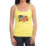 American Flag Butterflies Jr. Spaghetti Tank
