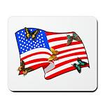 American Flag Butterflies Mousepad