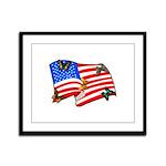 American Flag Butterflies Framed Panel Print