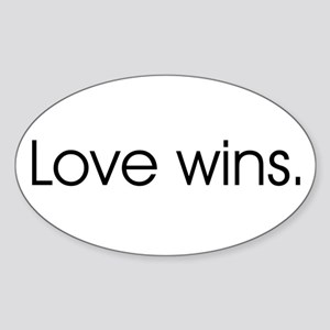 Love wins Oval Sticker