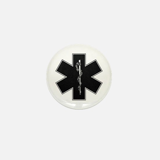 Star of Life(BW) Mini Button