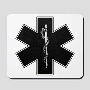 Star of Life(BW) Mousepad