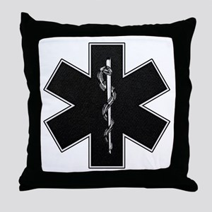 Star of Life(BW) Throw Pillow