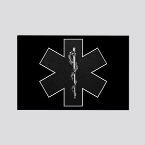 Star of Life(BW) Rectangle Magnet