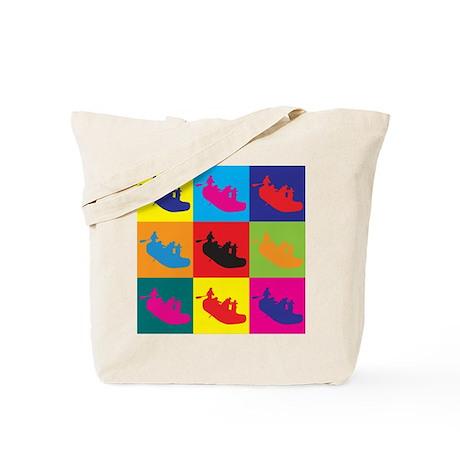 Rafting Pop Art Tote Bag