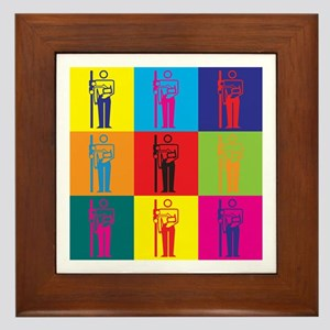 Radiology Pop Art Framed Tile