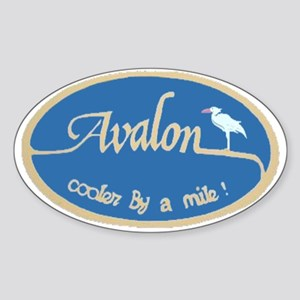 Avalon New Jersey Oval Sticker