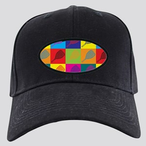 Racquetball Pop Art Black Cap