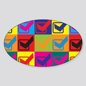 Quality Assurance Engineering Pop Art Sticker (Ova