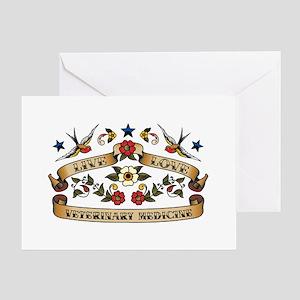 Live Love Veterinary Medicine Greeting Card