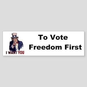 US Vote Freedom Bumper Sticker