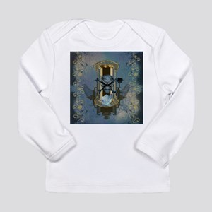Awesome skull with crow in blue colors Long Sleeve