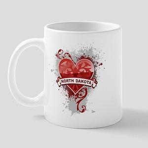 Heart North Dakota Mug