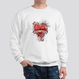 Heart North Dakota Sweatshirt