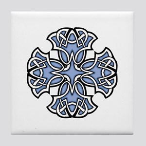 CELTIC142_BLUE Tile Coaster