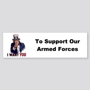 US Support Armed Forces Bumper Sticker