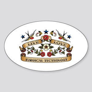 Live Love Surgical Technology Oval Sticker (10 pk)