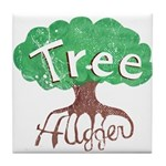 Earth Day : Tree Hugger Tile Coaster