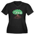 Earth Day : Tree Hugger Women's Plus Size V-Neck D
