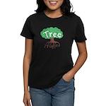 Earth Day : Tree Hugger Women's Dark T-Shirt