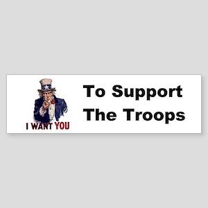 US Support Troops Bumper Sticker