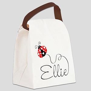 Ladybug Ellie Canvas Lunch Bag