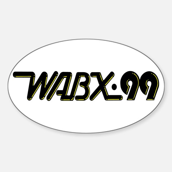 WABX~99 Oval Decal