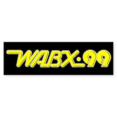 WABX~99 Sticker BLACK (Bumper)