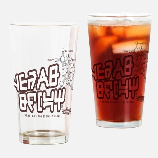 GOTG Alien Writing Drinking Glass