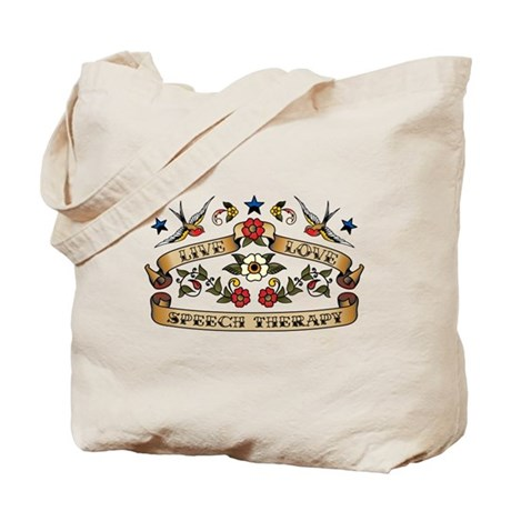 Live Love Speech Therapy Tote Bag