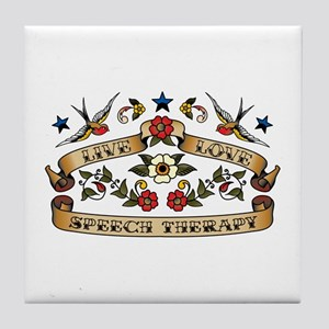 Live Love Speech Therapy Tile Coaster