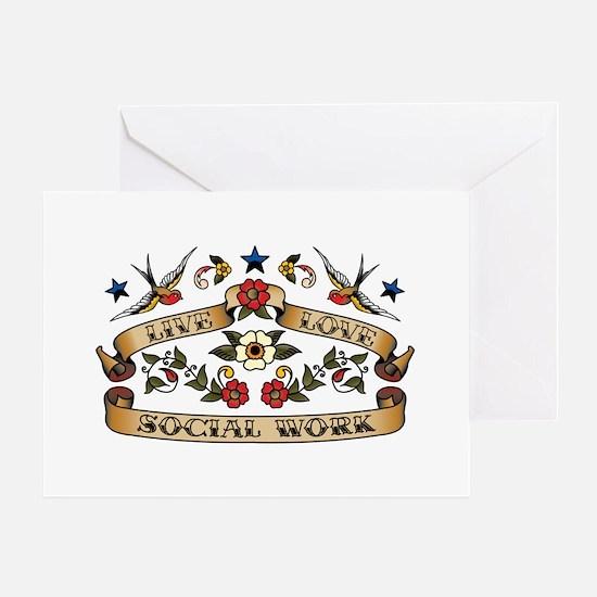 Live Love Social Work Greeting Card