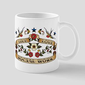 Live Love Social Work Mug