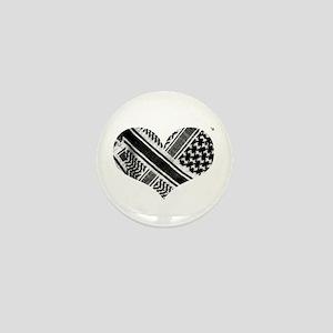 Keffiyeh love black Mini Button (10 pack)