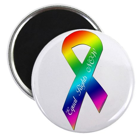 Equal Rights Now Ribbon Magnet