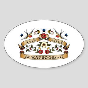 Live Love Scrapbooking Oval Sticker