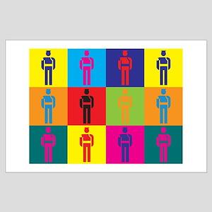 Probation Pop Art Large Poster