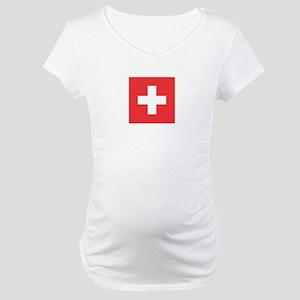 SWITZERLAND Maternity T-Shirt