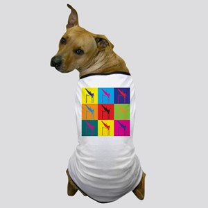Pole Vaulting Pop Art Dog T-Shirt