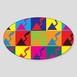 Plaster Pop Art Oval Sticker