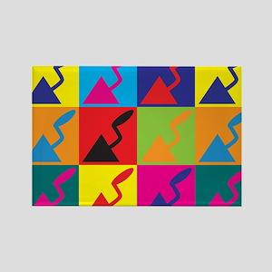 Plaster Pop Art Rectangle Magnet