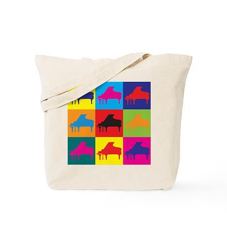 Piano Pop Art Tote Bag