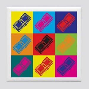 Payroll Pop Art Tile Coaster