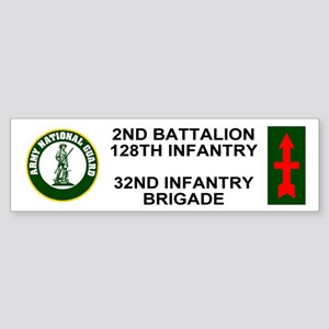 2-128th Infantry <BR>Bumper Sticker 1