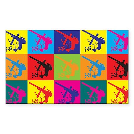 Paintball Pop Art Rectangle Sticker
