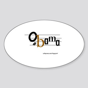 musical bar,Obama Oval Sticker