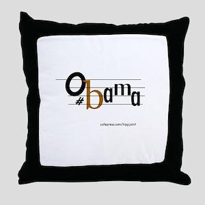 musical bar,Obama Throw Pillow