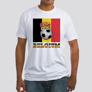 Belgium Football Fitted T-Shirt